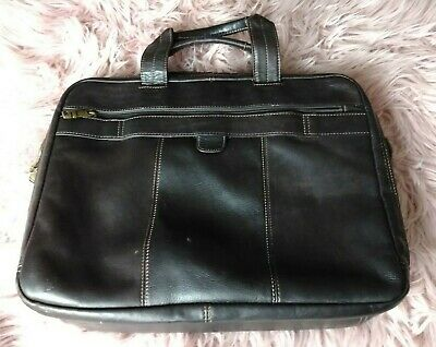 SAMSONITE Brown Leather Satchel Messenger Bag Laptop EUC