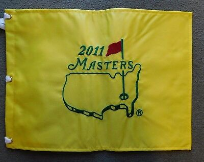 2011 Masters Official Embroidered Yellow & Green Flag Augusta National Golf Club Augusta Yellow Green