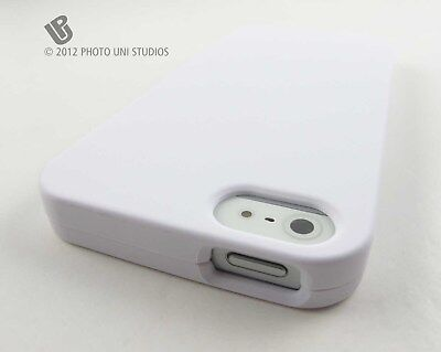 WHITE RUBBERIZED HARD SHELL SNAP-ON CASE COVER APPLE IPHONE 5 5S SE