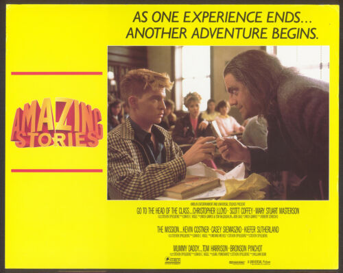 AMAZING STORIES (1987) Original Lobby Card Set (3) Steven Spielberg