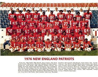 1976 NEW ENGLAND PATRIOTS 8X10 TEAM PHOTO FOOTBALL PICTURE NFL - Patriots Team Photo