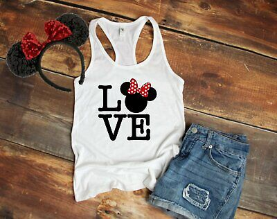 Disney Love Minnie Mouse womens razor back - Minnie Mouse Tank Top