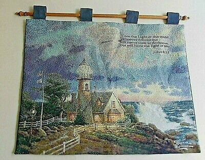Thomas Kinkade John 8:12 Tapestry Wall Hanging