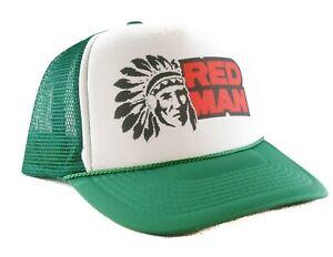 171df7adbd3 Red Man tobacco Trucker Hat mesh hat snapback hat green new adjustable