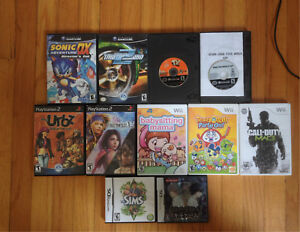 GameCube PlayStation 2 Wii DS games for sale