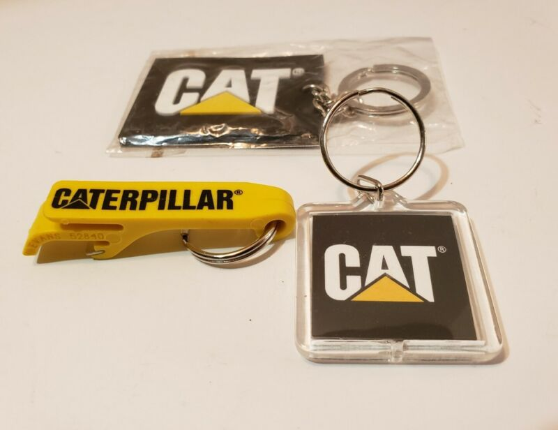 CAT 3 Keychain Lot with bottle opener keyring Caterpillar New Ships Fast!
