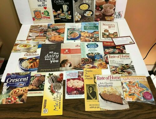 Big Lot Of 20 Assorted Recipe Cards Booklets & Brochures Free Shipping
