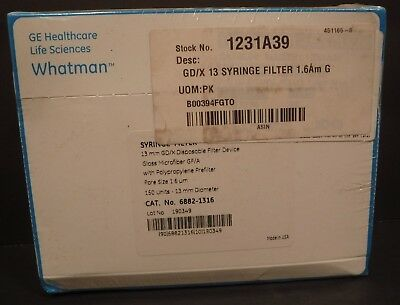 Whatman Syringe Filter 6882-1316 13mm Gdx Disposable Filter Device 150box