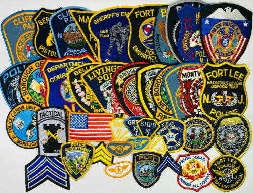 41 New Jersey Police Sheriff SWAT K9 Patches Collection NJ Patch Lot (NJ82421-B)