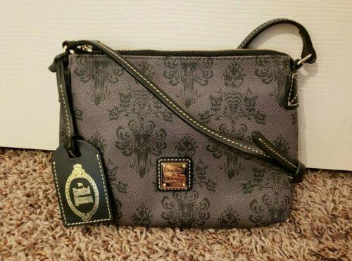 Disney Dooney & Bourke Haunted Mansion Wallpaper pouchette purse bag