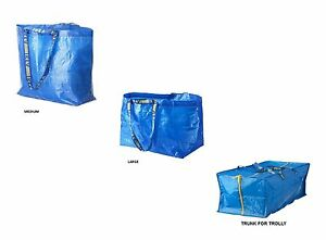 ikea frakta medium grand bleu sac de courses rangement de buanderie sacs. Black Bedroom Furniture Sets. Home Design Ideas