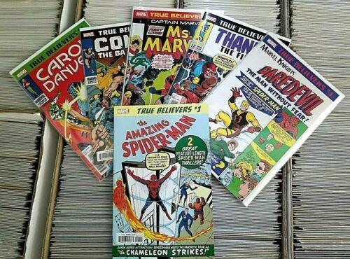 ASM#1-Daredevil#1-Thanos 1st -Ms Marvel -Conan- Carol Danvers- TRUE BELIEVER LOT