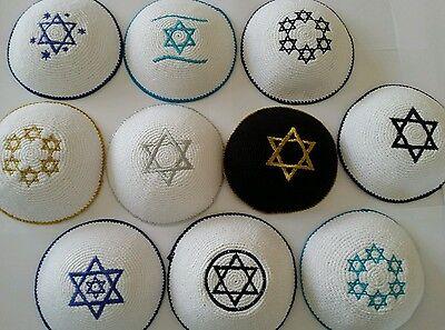 Kippah Kippot Kipa Jewish Judaica Handmade Star of David kippah Yarmulke Yamaka/