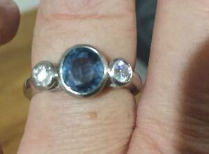 Ceylonese sapphire white gold ring Tamborine Mountain Ipswich South Preview
