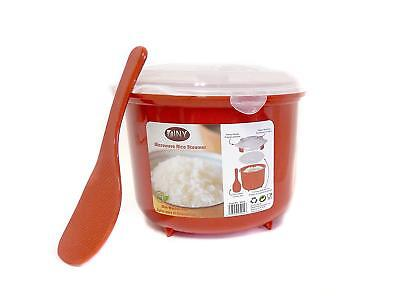 Microwave Rice Steamer Cooker BPA Open 2.6L Red