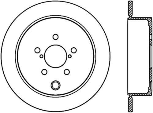 Disc Brake Rotor Premium Disc Preferred Rear Centric 120 47029
