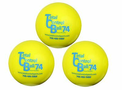TOTAL CONTROL BALL TCB 74 Baseball Weighted Training Hitting Batting Aid ~ 3 PK
