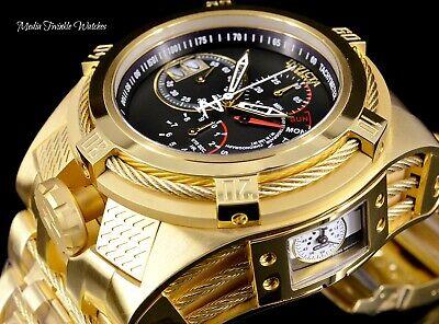 Invicta Reserve 52mm Bolt Zeus TRIA Swiss Quartz Black Dial Gold Bracelet Watch  comprar usado  Enviando para Brazil