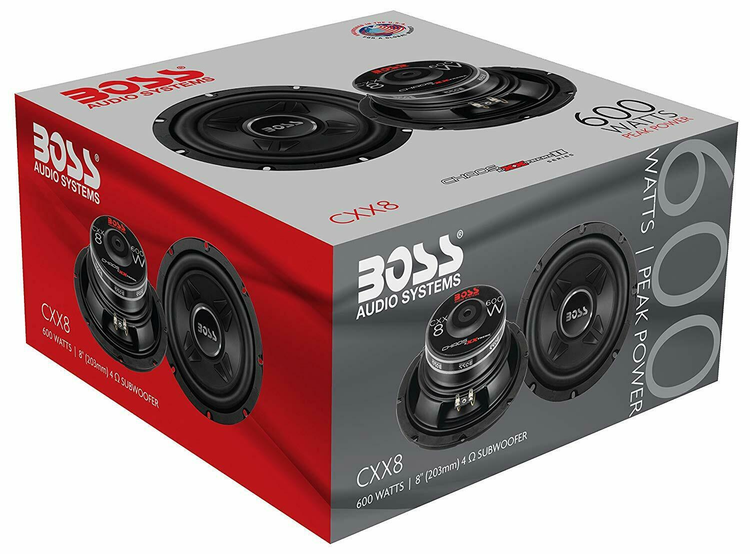 BOSS Audio Systems 600 Watts Car Subwoofer 8 inch Single 4 O