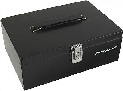 Large Fireproof Security Box Safe Chest Key Lock Money Document Cash Jewelry New