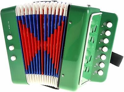 PowerTRC Children's Musical Instrument Accordion ~Green~ Brand New