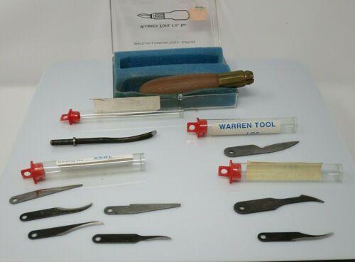Warren Cutlery Carving Kit w/ 9 Steel blades, Walnut handle