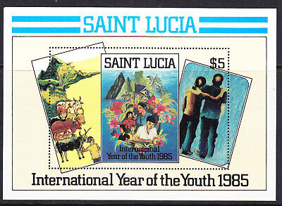 St Lucia 1985 Youth Year Miniature Sheet Mint