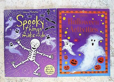 Lot 2 Usborne Halloween Activities / Spooky Things to Make & Do  - Things To Do Halloween