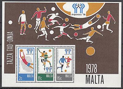 Malta Nr. Bl. 5** (571-573)** Fußball WM 1978 Argentinien