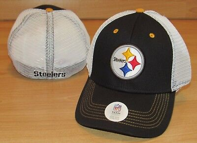 Pittsburgh Steelers NFL Team Mesh Back Flex Fitted Hat Cap Men