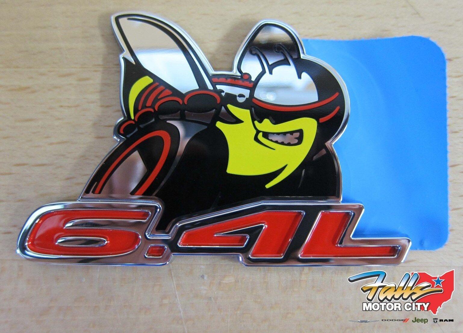 Dodge dodge challenger 6 4l scat pack emblem badge mopar oem
