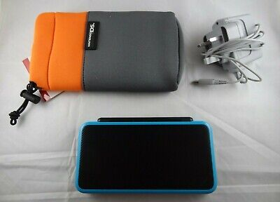 Nintendo Black/Turquoise/Blue 2DS XL - CHARGER & CASE INCLUDED
