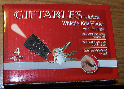 Giftables by Totes - WHISTLE KEY FINDER w/ LED Light - NIB!