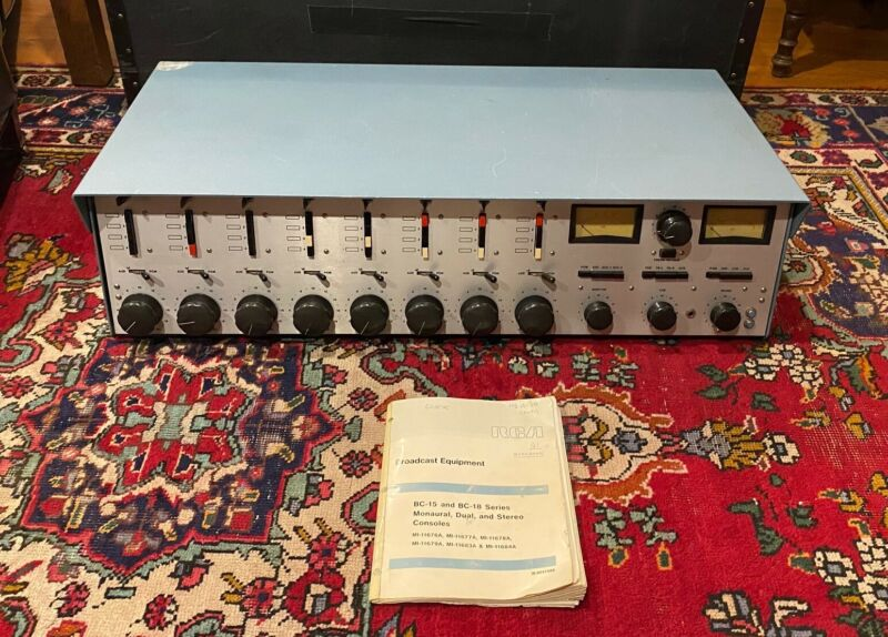 RCA bc18as stereo recording console 1972 complete and working