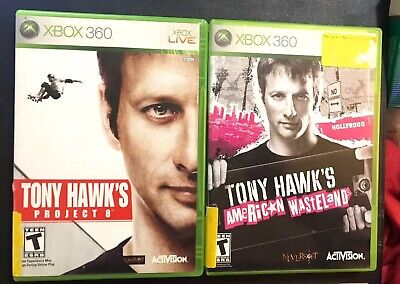 Tony Hawk's American Wasteland / Tony Hawks Project 8 Xbox 360 Live - 2 Game Lot