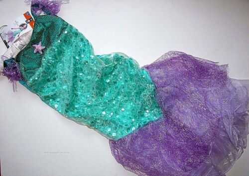 NWT NEW L 10-12 Halloween Costume Mermaid Dress Girls Child Mermaid
