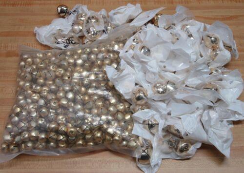 Huge Lot of 582 Gold 30mm & 18mm Metal Jingle Bells Christmas Holiday Crafts
