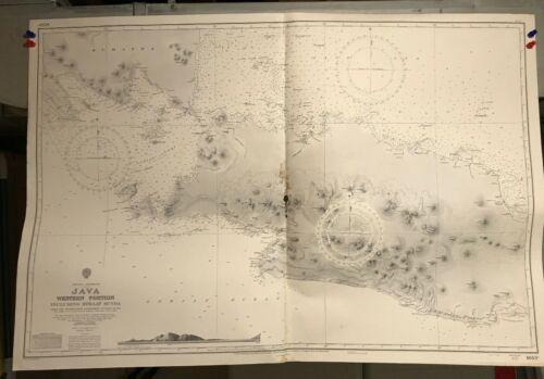 Java Set of 3 Navigational Chart Hydrographic Maps # 1653A 1653B 1653C Indonesia