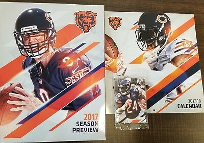 Chicago Bears 2017 Yearbook, Rare Trading Cards & Calendar - STH Exclusive!!!