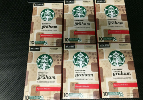 Starbucks Toasted Graham Flavored Coffee K Cups Keurig 60 count