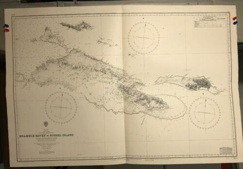 Papua New Guinea Navigational Chart Hydrographic Map # 2124 Louisade Archipelago