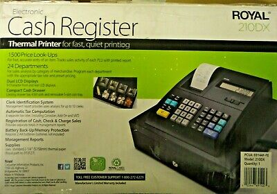 Royal 210dx Electronic Cash Register Thermal Printer -used In Box