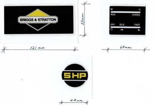 Briggs & Stratton 5HP Engine Black & Yellow Repro Decals