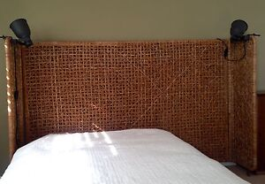Queen Bed Headboard Ratan / Seagrass