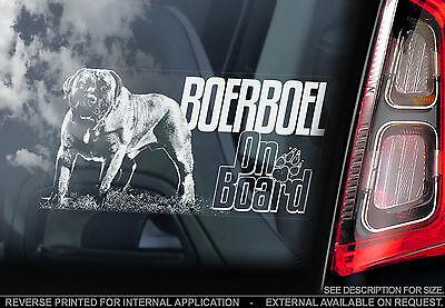 Boerboel - Car Window Sticker - South African Mastiff Dog Boer Bull Sign - TYP3