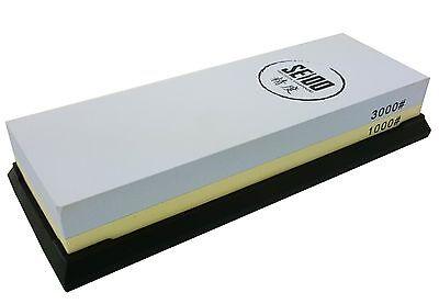 Seido 1000/3000 Grit Combination Corundum Whetstone Knife Sharpening Stone