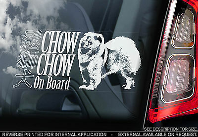 Chow Chow - Car Window Sticker - Songshi Quan Chowdren Dog Sign Art Print Gift