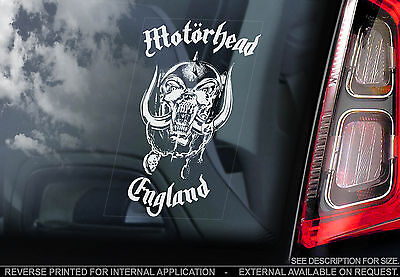 Motorhead - Car Window Sticker -War Pig Snaggletooth Rock Lemmy Sign Warpig -V01