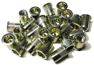 Rivet Nuts 14-20 Steel 25pc Buy 3 Or More 10 Rebate Rivnut Riv Nut Nutsert