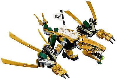 LEGO NINJAGO LEGACY LLOYD GOLDEN NINJA DRAGON 70666 BUILD ONLY - NO MINIFIGURES